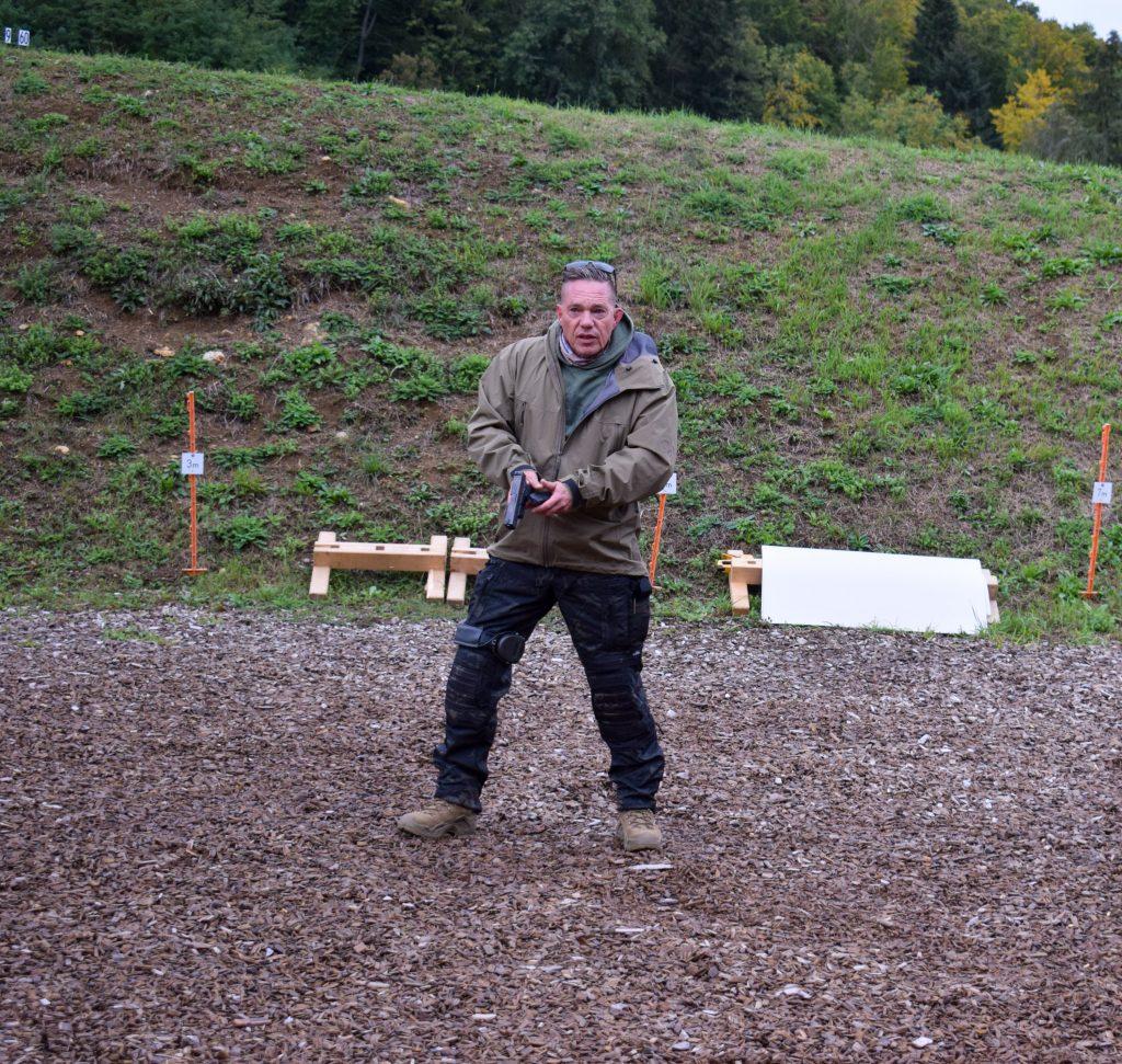 Ralf Kassner of Wodan Security doing his  Combat Pistol Training
